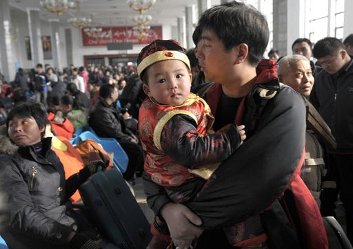 旧正月は故郷で、帰省ラッシュがスタート 中国