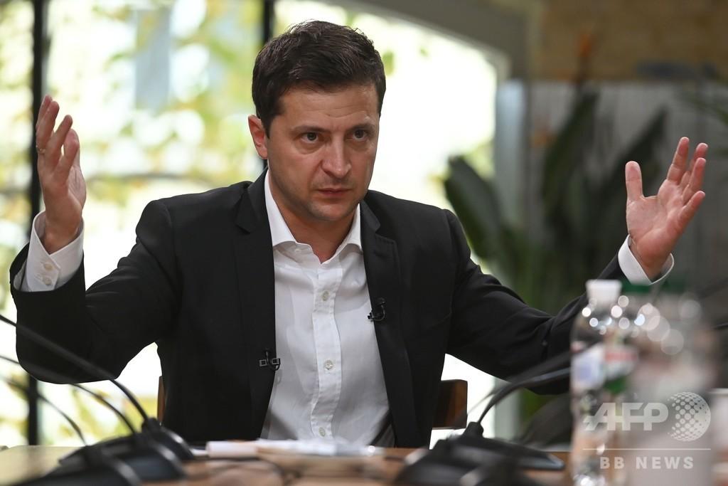 ウクライナ大統領、会見の世界最長記録を「更新」 12時間超も