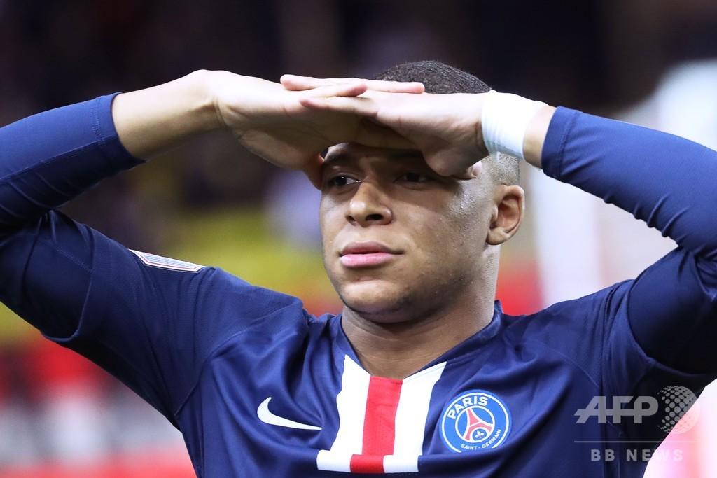 PSGがモナコに快勝、2ゴールのエムバペは今季20得点超え