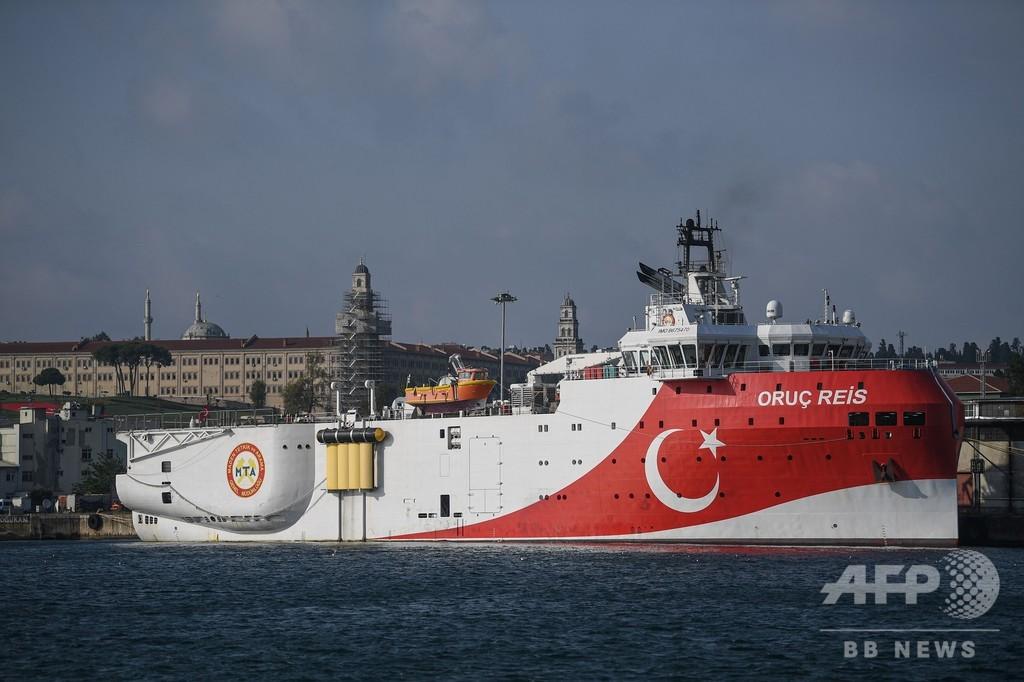 トルコ探査船、係争海域外に 「前向きな一歩」とギリシャ首相