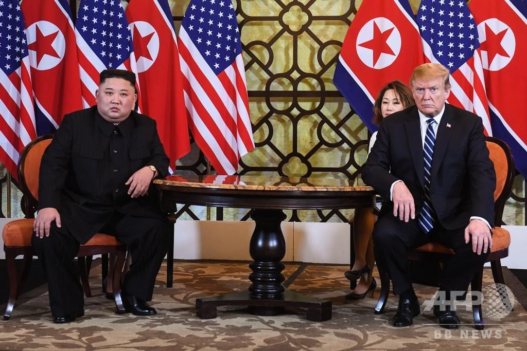 米朝首脳会談2日目始まる トランプ氏「焦っていない」