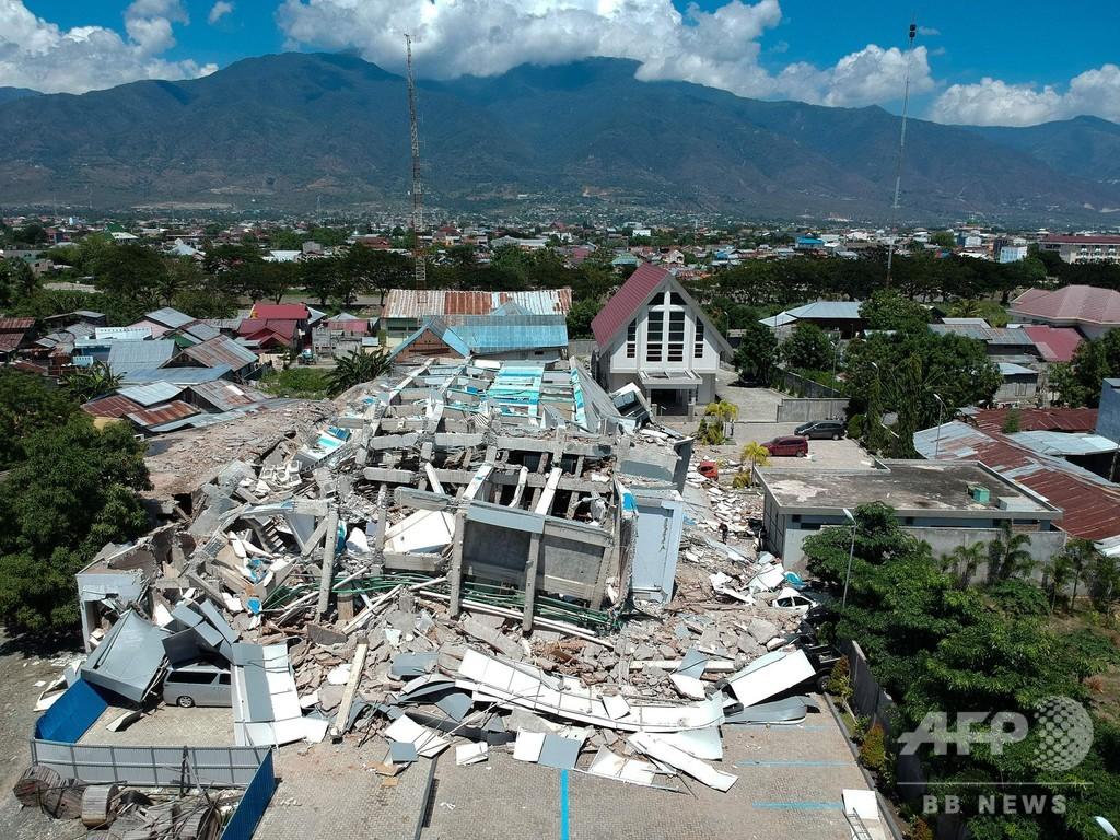 インドネシアのM7.5地震・津波、死者832人 「数千人」に上る恐れも