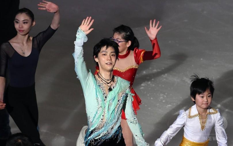 羽生ら上位選手がエキシビションに登場、NHK杯