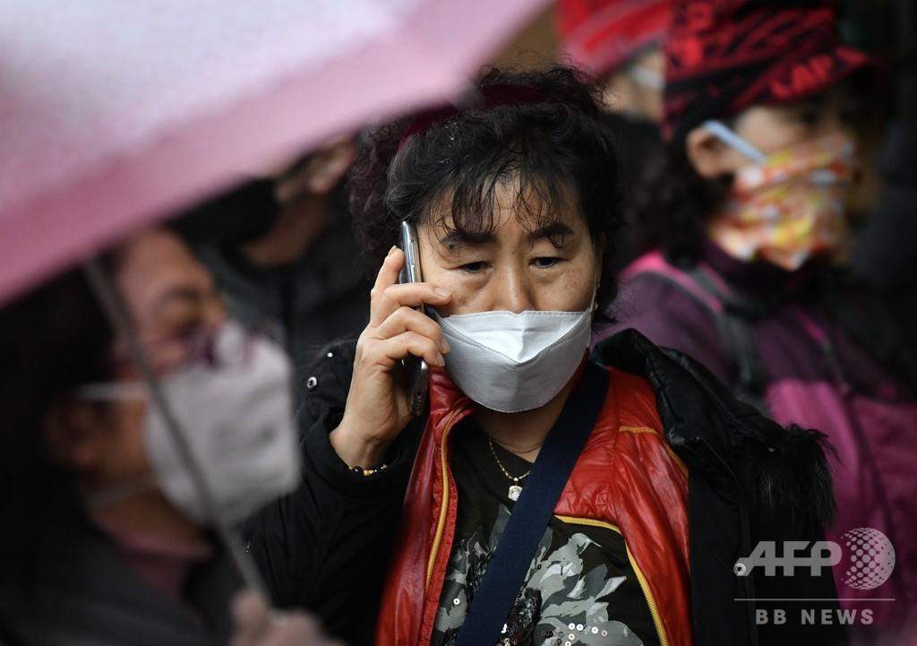 韓国の新型ウイルス感染者1100人超に、中国以外では突出