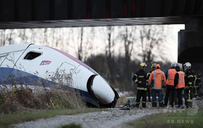 「ブレーキの遅れ」が原因、11人死亡の仏TGV脱線事故