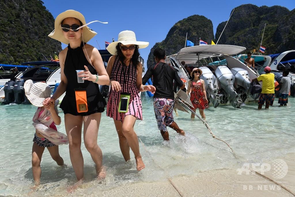映画『ザ・ビーチ』で有名なピピ島の湾、閉鎖期間を2年延長へ タイ