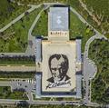 6000人で「描く」、初代大統領の巨大肖像画 トルコ