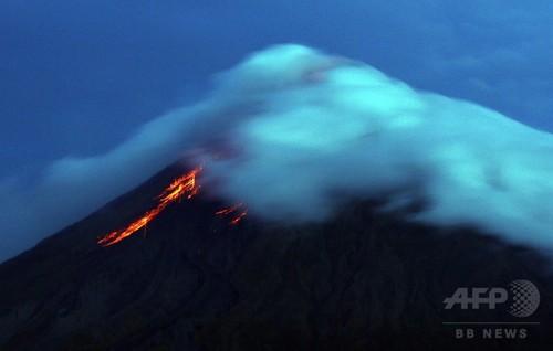 フィリピン・マヨン山から溶岩、5万人が緊急避難へ