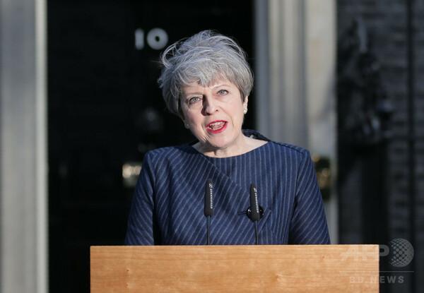 英首相、6月8日に総選挙実施の方針表明