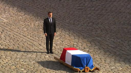動画:シラク仏元大統領の「国喪の日」 葬儀の映像