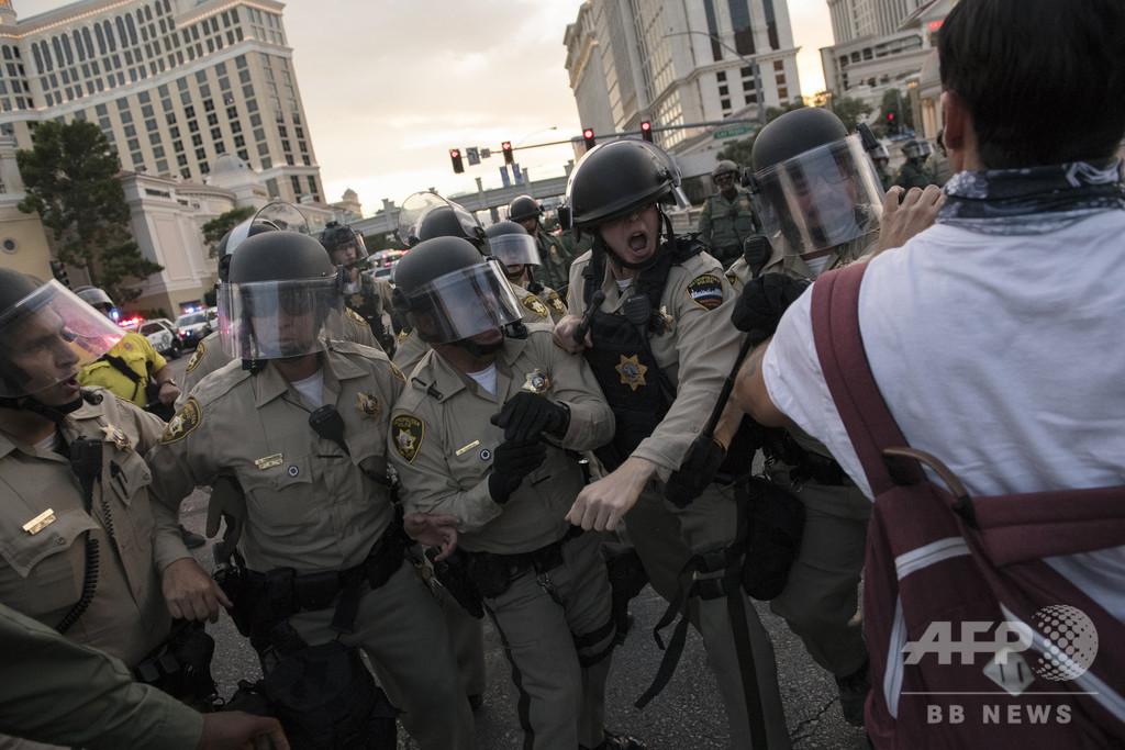 米デモで暴力扇動、極右運動「ブーガルー」とみられる男3人を逮捕