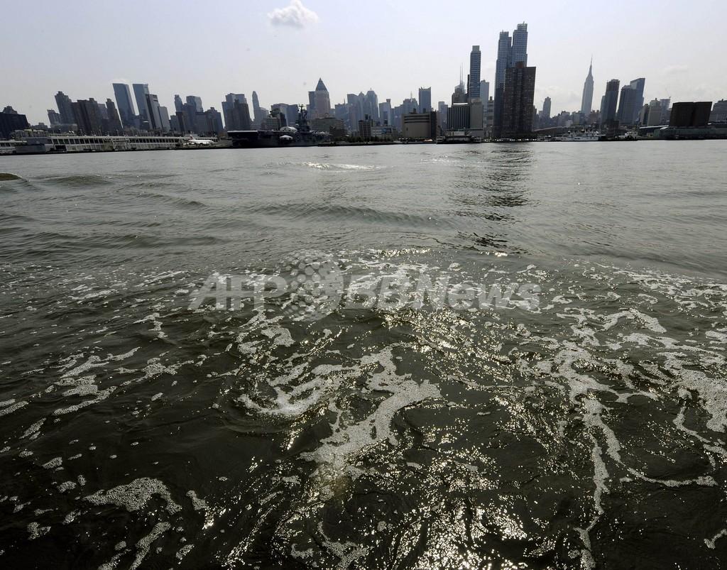 ハドソン川遊泳、「細菌まん延」で警告 米NY