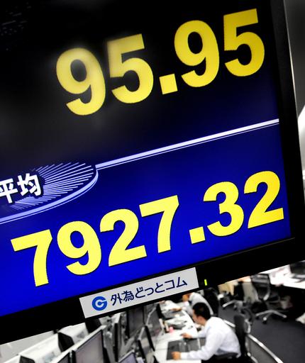 日経平均終値、5年ぶりの8000円割れ 円高急進とソニー急落を