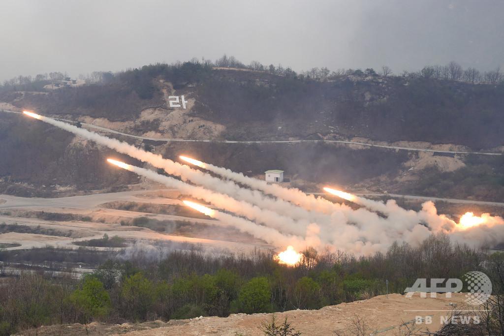 米韓、合同軍事演習の規模縮小へ 北との核協議に配慮