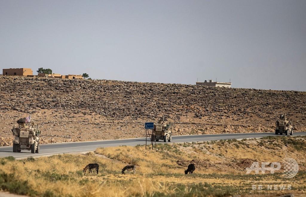 クルド部隊、シリア北部から撤収 国境の町ラスアルアイン
