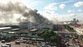 インドネシア首都の市場で大規模な火災