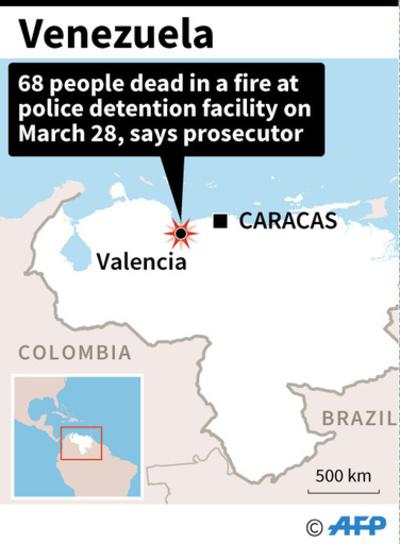 ベネズエラ留置場で脱獄騒ぎ、火災で68人死亡