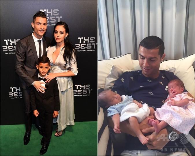 ロナウドが4人目の子どものパパに、恋人が女の子を出産
