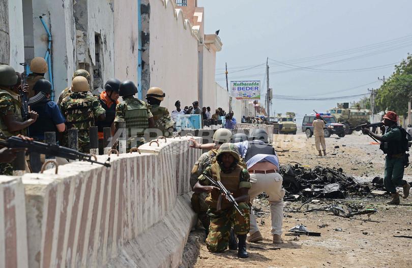 武装集団が国連施設を襲撃、9人死亡 ソマリア首都