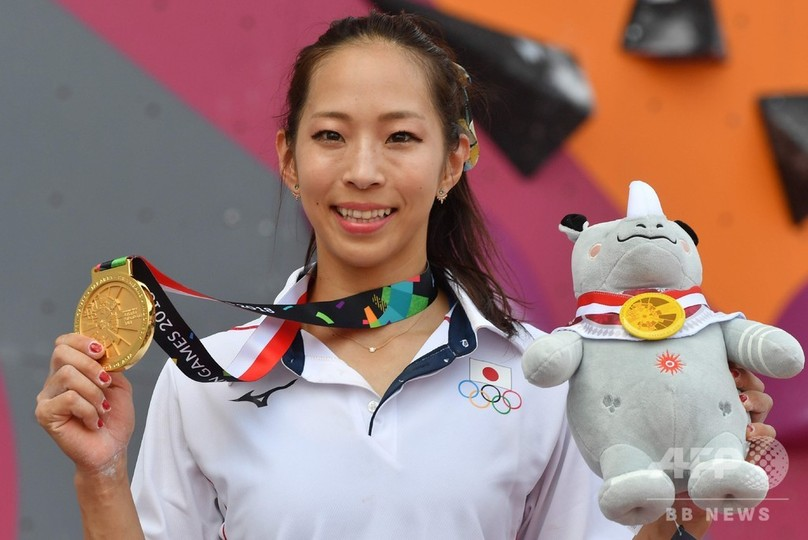 野口啓代が金メダル、スポーツクライミング女子 アジア大会