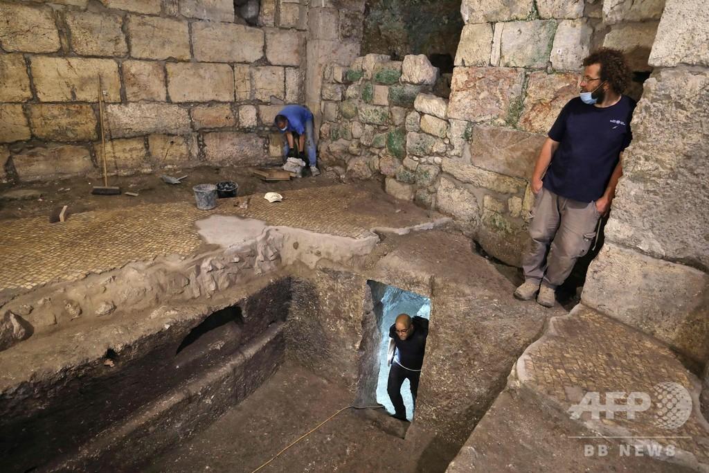 エルサレム「嘆きの壁」近くに岩盤削った地下室、用途は不明