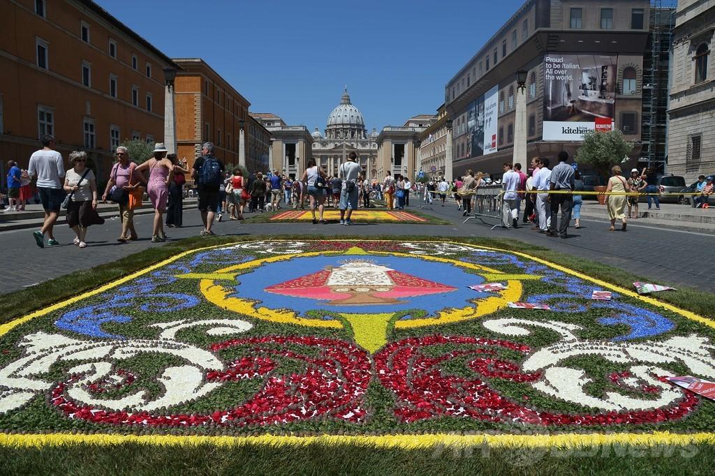 伝統の花じゅうたん祭り「インフィオラータ」、バチカン