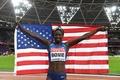 ボウイが女子100m金、体投げ出し大接戦制す 世界陸上