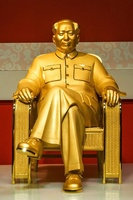 金とヒスイでできた毛沢東像を公開、17億円相当 中国