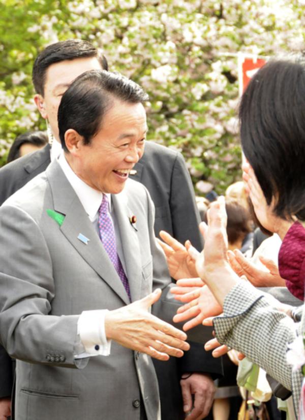 調子づく麻生首相