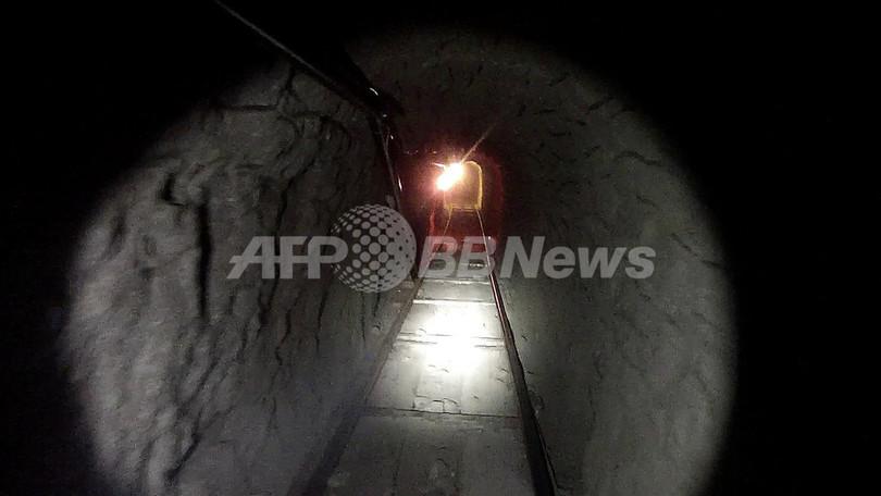 米メキシコ国境で麻薬密輸用「スーパートンネル」発見、全長500メートル