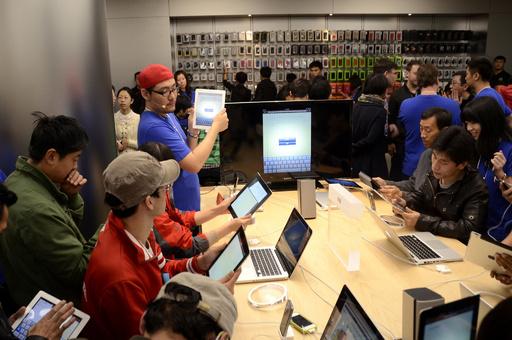 米アップル、北京にアジア最大の直営店をオープン