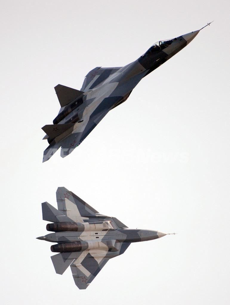 ロシア初のステルス戦闘機「T-50」、航空ショーでベール脱ぐ