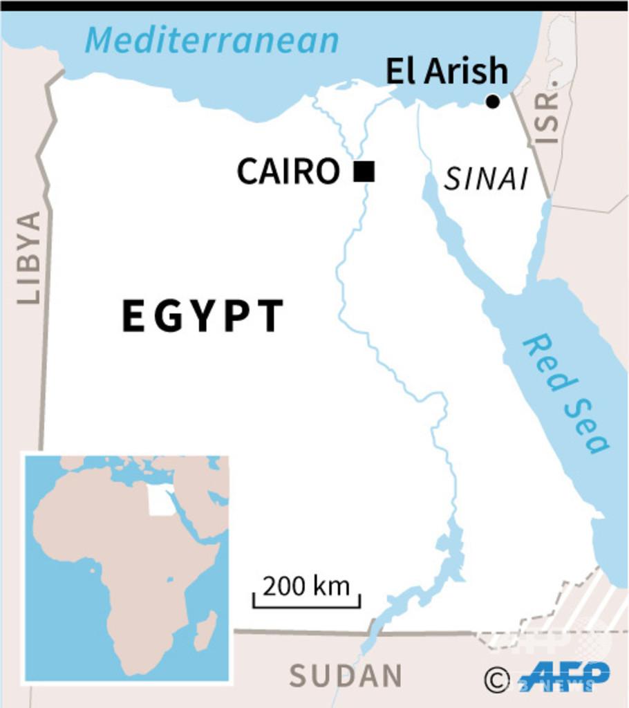 イスラム過激派の攻撃で警官7人死亡、エジプト・シナイ半島