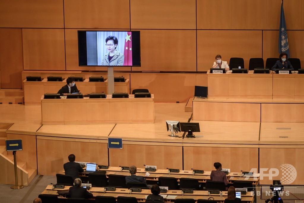 香港国家安全法、中国は再検討を 27か国が共同声明