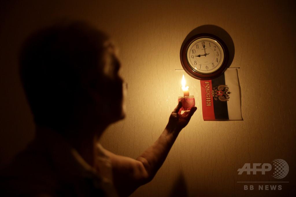 クリミアで送電ケーブル爆破、大規模停電で非常事態宣言