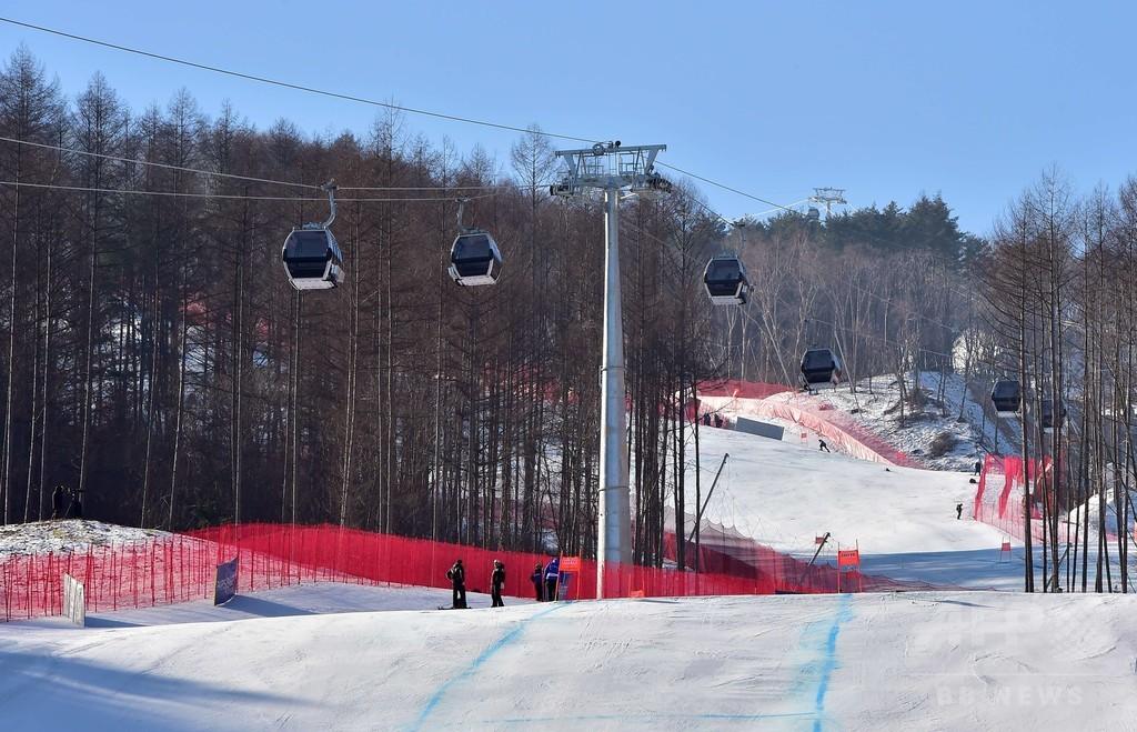 平昌冬季五輪のアルペン会場、トップ選手は「楽しい」と口そろえる