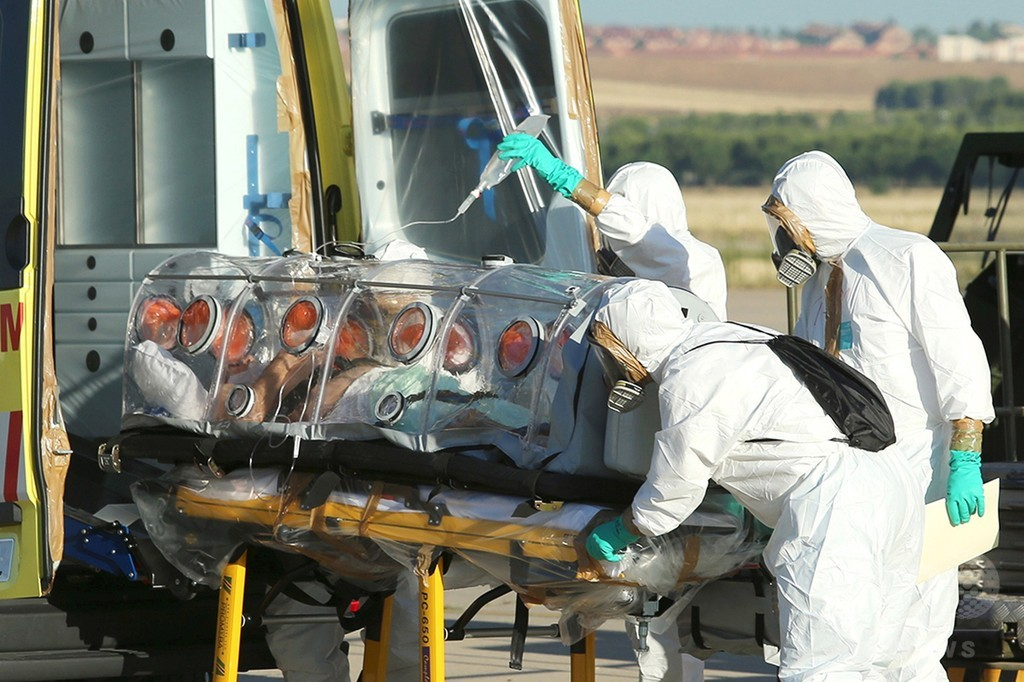 エボラ出血熱、スペイン慈善団体に3人目の死者 リベリア