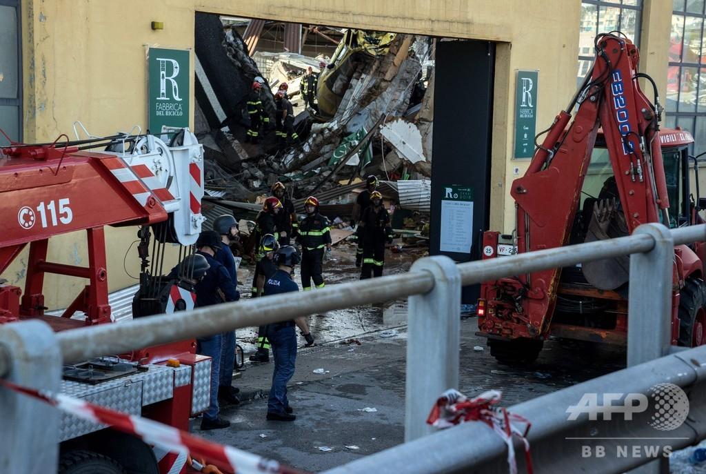 イタリア高架橋崩落 「奇跡」の救出、真下の店舗で生き埋めに…女性が証言