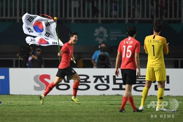 男子サッカーで日本銀、韓国優勝で孫興民は兵役免除に アジア大会