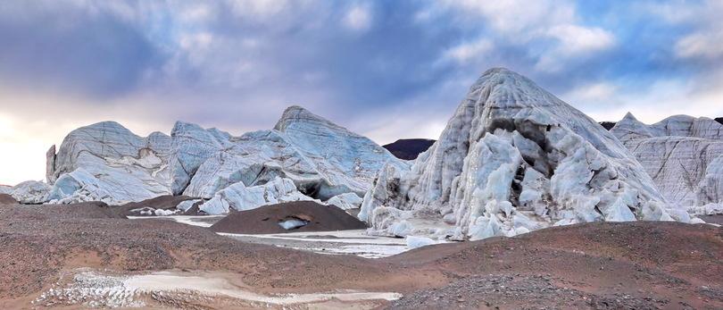 大自然がつくり出す造形美、普若崗日氷河 チベット自治区 写真10枚 ...