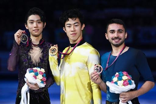 チェンが世界最高得点でGPファイナル3連覇、羽生は2位
