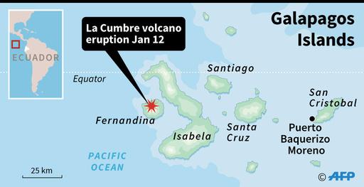 ガラパゴス諸島で火山噴火、生態学上の重要地域に溶岩流出