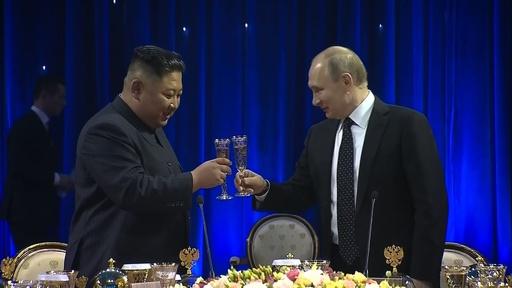 動画:ロ朝首脳会談、金氏「非常に有意義」 プーチン氏「北の非核化には安全の保障が必要」