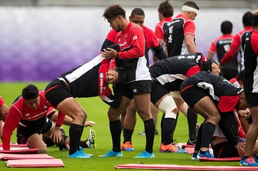 ラグビー日本代表が調整、南アフリカとのW杯準々決勝へ