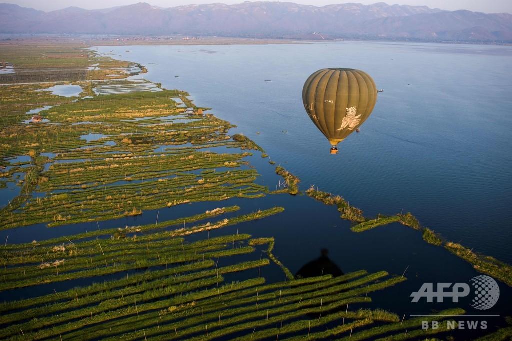 水位低下が進むインレー湖、専門家が早急の対応を呼び掛け ミャンマー