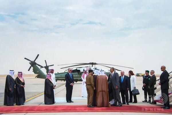 米大統領、サウジ国王と会談=安全保障確約で関係修復目指す