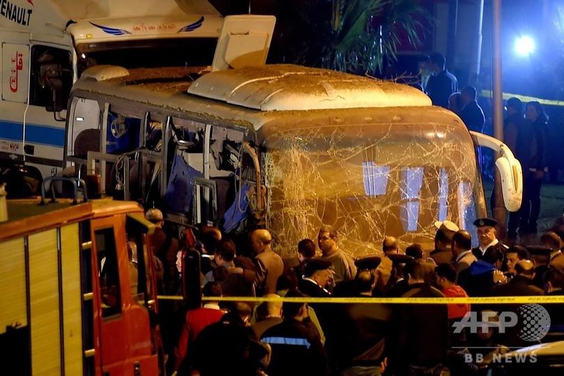 ピラミッド近くで観光バス爆破、ベトナム人ら4人死亡 エジプト