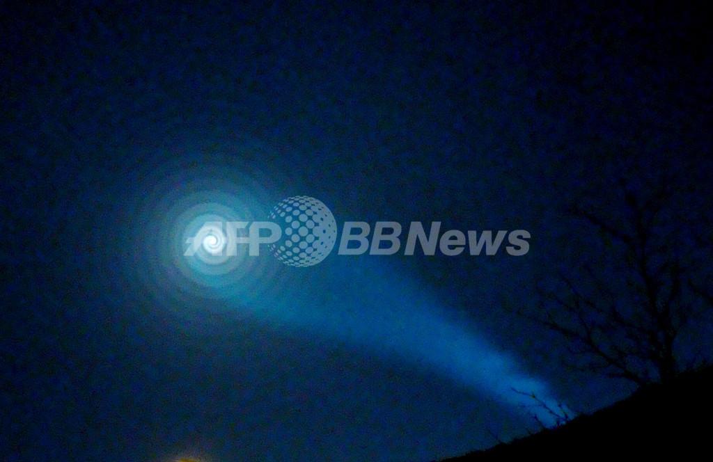 ノルウェー北部でUFO騒ぎ、正体はロシアのミサイル発射実験失敗