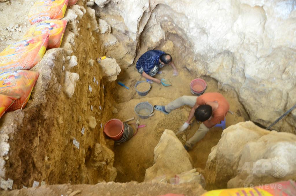 1.6万年前の墓を発見、旧石器後期の埋葬習慣示す貴重な資料 広西チワン族自治区