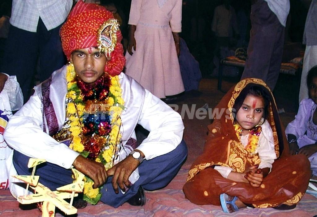 インドの幼児婚、女性に身体的・社会的な負担